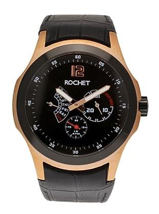 Rochet W411085 - Reloj de Caballero movimiento cuarzo con correa de piel Negro