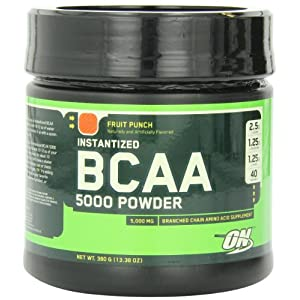 Optimum Nutrition (ON) Instantized BCAA 5000 mg Powder - 380 g (Fruit Punch)