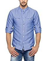 SPYKAR Men Cotton BLue Casual Shirt (Medium)