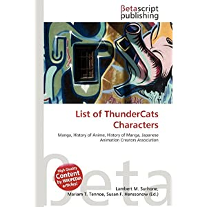 Pictures Thundercats Characters on Amazon Co Jp    List Of Thundercats Characters  Lambert M  Surhone
