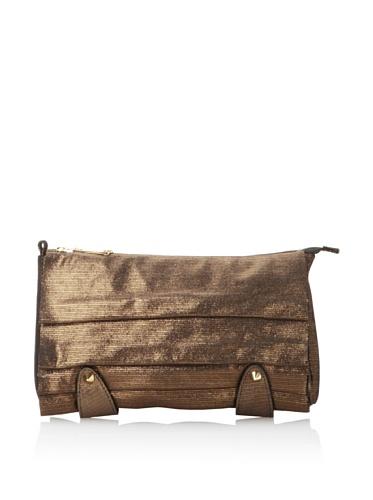 CC Skye Women's Merriweather Lazy Pleated Clutch (Brown)