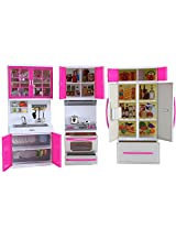 """My Modern Kitchen Mini Toy Playset w/ Lights and Sounds, Perfect for 11-12"""" Dolls"""