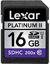 Lexar Platinum II 200X 16GB SDHC UHS-I Class 10 Flash Memory Card