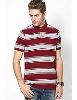 Cabernet-Pt / Maroon-Pt Polo T-Shirt