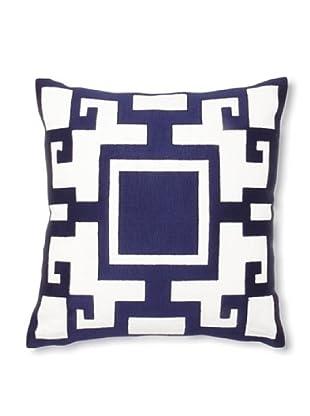 Jennifer Paganelli Kara Linen Pillow, Blue