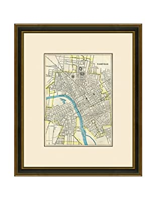 Antique Lithographic Map of Nashville, 1883-1903