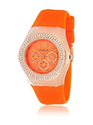My Silver Reloj Reloj Rosado Naranja Strass