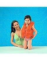 Intex Kids Children Young Swimmers Deluxe Pool Float Swim Vest Jacket - Orange