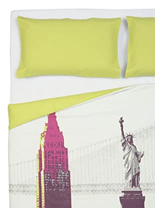 Cartoons Home Parure Copripiumino New York (lime/violet)