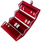 Earring & Nose Pin Velvet Box For Travel Jewellery Case