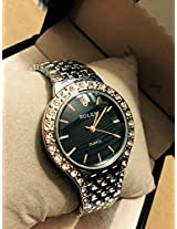 Rolex Black Dialler Women Watch