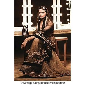 Bollywood Style Deepika Padukone Net Lehenga In Coffee and Beige Colour NC537