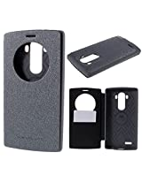 Grey Mercury Wow Bumper View Leather + TPU Shell Flip Cover for LG G3 D690