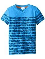 Splendid Little Boys' Classic Stripe Vneck Top Tod, Blue, 2T