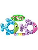 Intex Swim Along Rings Fish Blue/Green & Pink/Purple Gift Set Bundle - 2 Pack