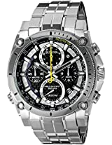 Bulova Precisionist Analog Black Dial Men's Watch - 96B175