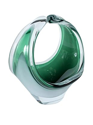 Vintage Flygsfors Coquill Art Glass, Green/Clear