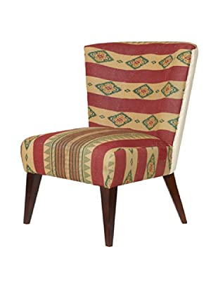 Kantha Arm Chair, Red/Natural Multi
