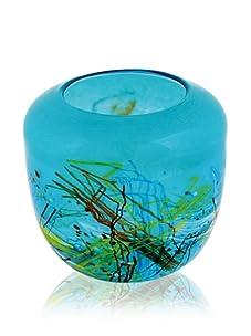 Viz Art Glass Graffiti Bud Vase