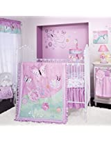 Lambs & Ivy Crib Bedding Set, Kaleidoscope, 4 Piece