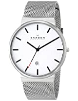 Skagen Analog White Dial Men's Watch - SKW6052