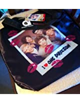 One Direction 1D Large Black Tote Bag with Wide Straps