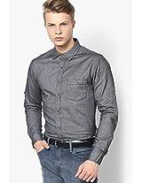 Solid Grey Casual Shirt