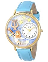 Whimsical Watches Women's G0710004 Angel with Harp Blue Leather Watch