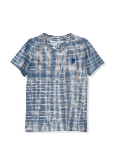 Munster Kid's Dyelying Cotton Yarn Dye Tee (Blue Dye)