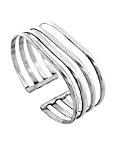 925-Silver Simplistic Four Row Style Silver Bangle For Women 10387-7