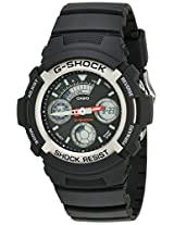 Casio Men''s AW590-1AVCF G-Shock Black and Silver-Tone Analog Digital Watch