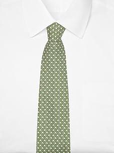 Hermès Men's Bowler Tie (Green/white)