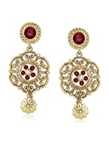 Meenaz Traditional Earrings Fancy Party Wear Kundan Moti Pearl Daimond Earrings For Women - TR175