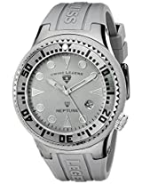 Swiss Legend Men's 21848D-PHT-14 Neptune Grey Dial Grey Silicone Watch