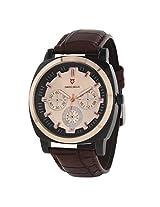 Svviss Bells Stylish Copper Bezel Chronograph Look Watch