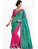 Pink Embroidered Saree Bahubali