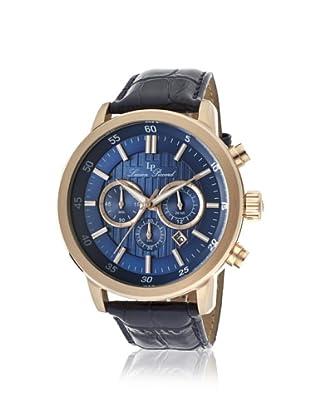 Lucien Piccard Men's 12011-RG-03 Monte Viso Blue/Gold Leather Watch