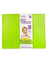 Placematix Kids Placemat - Eat, Play, and Learn - Innovative and Reliable Design - Safe and Non-Toxic - Microwave and Dishwasher Safe - Includes Green Placemat