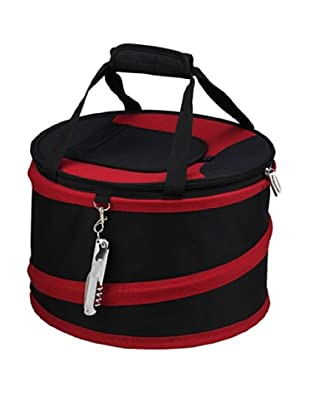 Picnic at Ascot Compact Pop-Up Cooler (Black/Red)