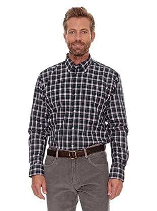 Cortefiel Camisa Tartán (Verde Oscuro)