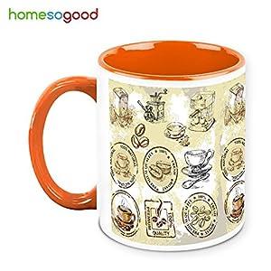 HomeSoGood Coffee Making Prescription On Coffee Mug White 325 ml Ceramic