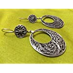 92.5 sterling silver round danglers