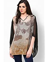 Disney Monopop Collection Georgette Off White Printed Tunic