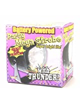 Forum Novelties Mega Strobe Super Bright Battery Powered Party Light with Thunder Sound Effects