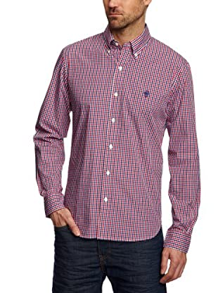 Brooks Brothers Camisa Virgil (Rojo/Azul)