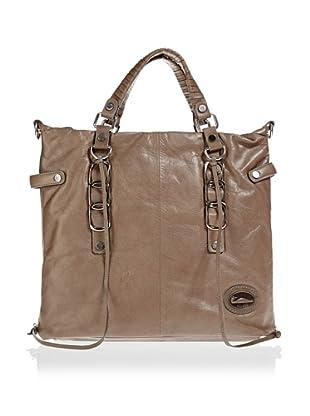 Borella Leder Tote-Bag (Taupe)