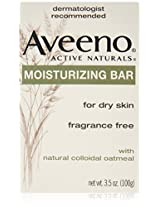 Aveeno Active Naturals Fragrance-Free Moisturizing Bar, 4 Count