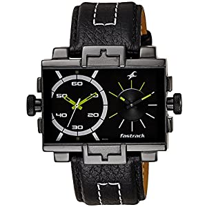 Fastrack Midnight Party Dual Time Analog Black Dial Men's Watch - 3096NL01