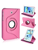 GB 360 Rotating PU Leather Stand Case For Samsung Galaxy Tab3 7.0 P3200 Light Pink
