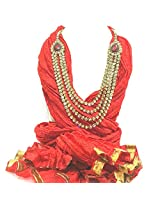 NJS Women's Stole (#JST 32B_Red_Free Size)